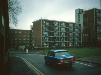 View of Tyndall House and 5-storey blocks in development