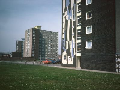 View of Hammond Court and Blak Court with Harbour Tower in foreground