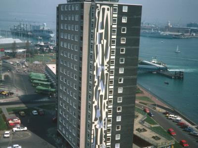 View of Harbour Tower from 15th storey of Seaward Tower