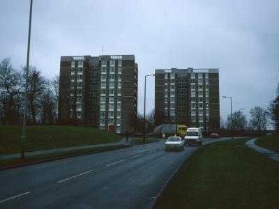 View of both 10-storey blocks in Pelham Court