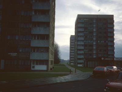 View of 11-storey blocks in Heartsease