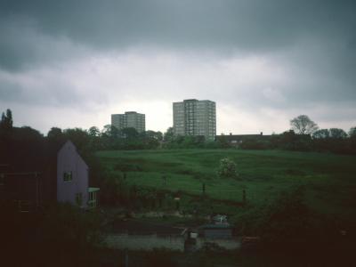 View of Wensley Road blocks