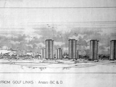 Proposed view of Seaton B, C and D