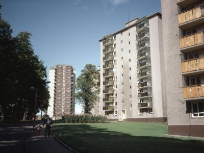 View of three 10-storey blocks as part of Foggyley 1st Development