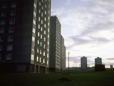 View of Moredun Temporary Housing Area, Phase II, with Phase III in background