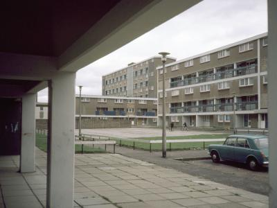 View of Muirhouse Temporary Housing Area II