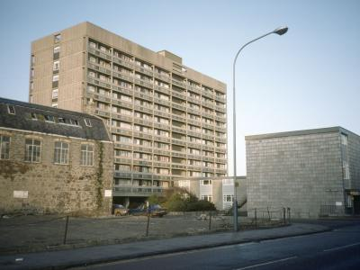 View of 11-storey block, Chapel Street and Skene Street, Section 2