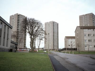 View of three 19-storey blocks on Cornhill-Stockethill Section IV development