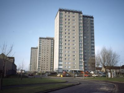 View of Cornhill Court, Rosehill Court and Cairncry Court