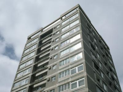 View of one of blocks on Hazlehead I development