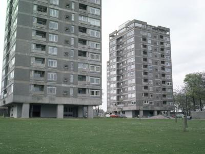 View of two 12-storey blocks on the Hazlehead I development