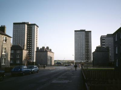 View of Seaton B, C and D development - two 10 storey blocks
