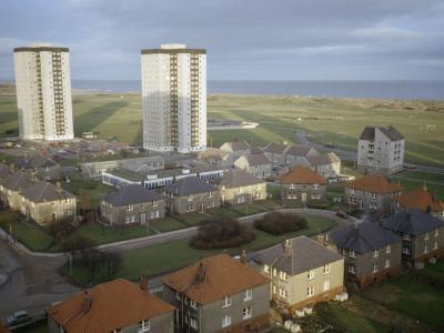 View of Seaton B, C and D development from 13th floor of Linksfield Court