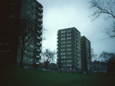 View of Hazel Court blocks