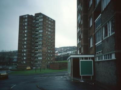 View of Croft Street blocks