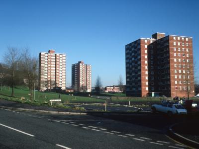 General view of blocks on Croft Street and Matthew Street