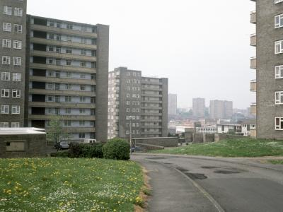 View of Lincoln Green Estate from the east, with Boston Towers in the foreground
