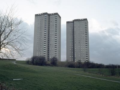 View of Cottingley Towers (left) and Cottingley Heights (right)