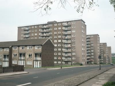 View of Ebor Gardens develoment, with Saville Green the closest block to the camera