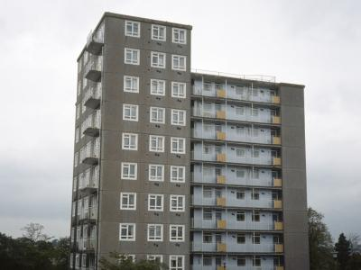 View of Leafield Towers from the east