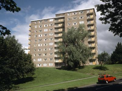 View of Norman Towers from the south on Spen Lane