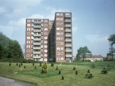 View of a block on the Swarcliffe development
