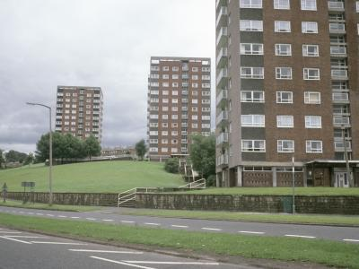 View of Wellington Hill development, with Barncroft Court in the foreground
