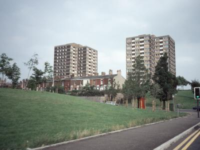 View of the Larkhill development from the west