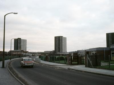 View of the three blocks making up Worsley Mesnes North development