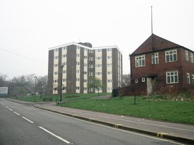 View of Swan Court from the southeast