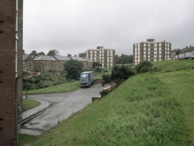 View of Buckden Court and Hebden Court